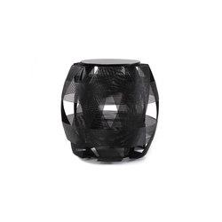 Trigono Stool, Black | Garden stools | Oggetti