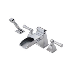 Roman Tub Faucet with Channel Spout and Handshower | Robinetterie pour baignoire | Brizo