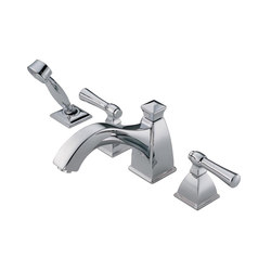Roman Tub Faucet with Curve Spout and Handshower | Bath taps | Brizo