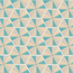 Sisters | Pinwheel Caribbean Breeze | Ceramic tiles | Tango Tile