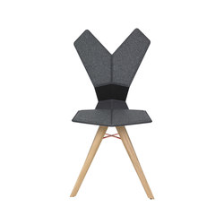 Y Chair Black Shell Natural Oak Base | Sedie ristorante | Tom Dixon