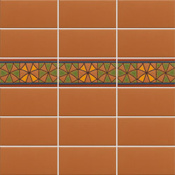 Charmant California Revival | Nevarro Border | Ceramic Tiles | Tango Tile