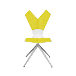 Y Chair Swivel White Shell Aluminium Base | Chaises de restaurant | Tom Dixon