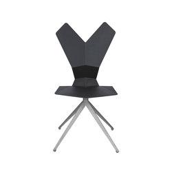 Y Chair Swivel Black Shell Aluminium Base | Sedie ristorante | Tom Dixon
