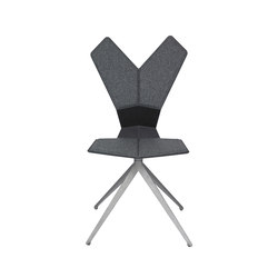 Y Chair Swivel Black Shell Aluminium Base | Restaurantstühle | Tom Dixon