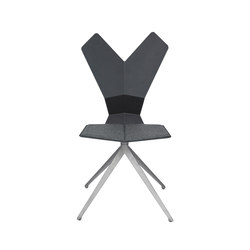Y Chair Swivel Black Shell Aluminium Base | Chaises de restaurant | Tom Dixon