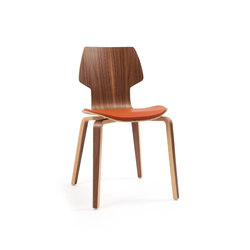 Gràcia | wood walnut | Visitors chairs / Side chairs | Mobles 114