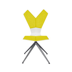 Y Chair Swivel White Shell Black Base | Chaises de restaurant | Tom Dixon