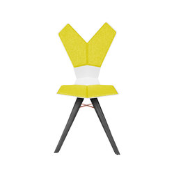 Y Chair White Shell Black Oak Base | Sillas | Tom Dixon