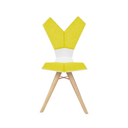 Y Chair White Shell Natural Oak Base | Restaurant chairs | Tom Dixon
