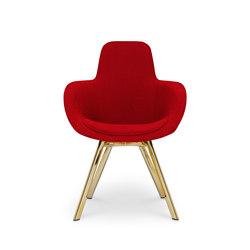 Scoop Chair High Back Brass Leg Tonus 4 | Sillas de visita | Tom Dixon