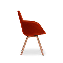Scoop Chair High Back Copper Leg Tonus 4 | Sedie visitatori | Tom Dixon