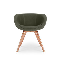 Scoop Chair Low Back Copper Leg Tonus 4 | Besucherstühle | Tom Dixon