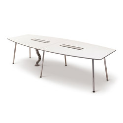 Next Conference table - 300x120 with corner legs and C-box | Mesas multimedia | Fora Form