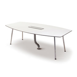 Next Conference table - 240x120 with corner legs and C-box | Mesas multimedia | Fora Form