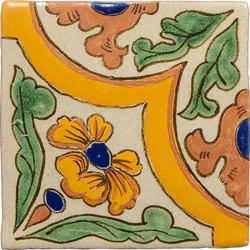 Classic Talavera | Amapolas 4-Piece Pattern | Ceramic tiles | Tango Tile