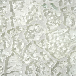 Ellen Blakeley | Winter White - Snow Pearl | Carrelage en verre | Tango Tile