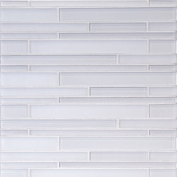 The Tile District | Interlocking Stix-Super White and Frosted Glass Combination | Mosaïques | Tango Tile