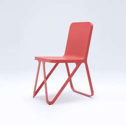 Loop Chair - coral red | Chaises de restaurant | NEO/CRAFT