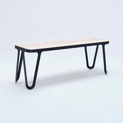 Loop Bench - jet black | Waiting area benches | NEO/CRAFT
