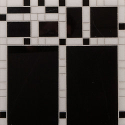 Marble Mosaics | Boogie Woogie Sharps & Flats | Natural stone tiles | Tango Tile