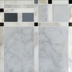 Marble Mosaics | Boogie Woogie  2 Drums | Natural stone tiles | Tango Tile