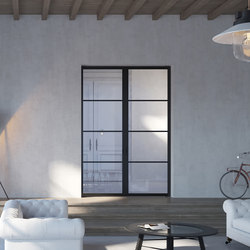 Portapivot 6530 | double door black anodized | Porte interni | PortaPivot