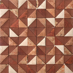 Rurale | Marble and Porcelain Mosaic in Red | Mosaïques en pierre naturelle | Tango Tile