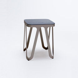 Loop Stool Wood - quarzgrau | Hocker | NEO/CRAFT