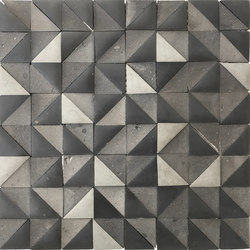 Rurale | Marble and Porcelain Mosaic Tile in Grey | Mosaïques | Tango Tile