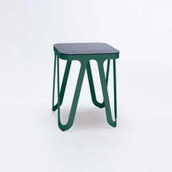 Loop Stool Wood - moosgrün/ esche schwarz | Hocker | NEO/CRAFT