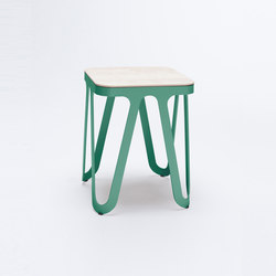 Loop Stool Wood - patinagrün | Hocker | NEO/CRAFT