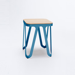 Loop Stool Wood - capriblau | Hocker | NEO/CRAFT