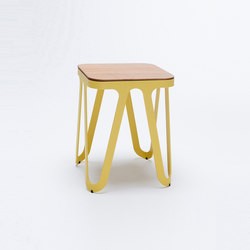 Loop Stool Wood - lemon yellow | Stools | NEO/CRAFT
