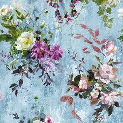 Jardin Des Plantes Fabrics | Aubriet - Slate Blue | Curtain fabrics | Designers Guild