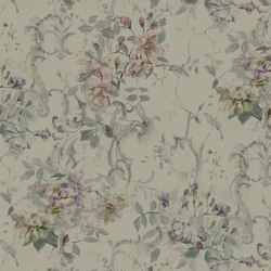 Jardin Des Plantes Fabrics | Saverne Lino - Viola | Curtain fabrics | Designers Guild
