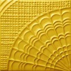Gaudí Tile Yellow Sun | Baldosas de cerámica | Mambo Unlimited Ideas