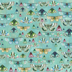 Jardin Des Plantes Fabrics | Charonda - Jade | Curtain fabrics | Designers Guild