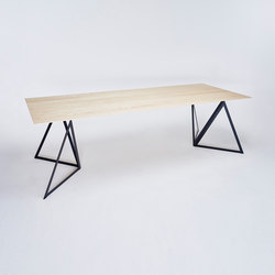 Steel Stand Table - jet black/ ash white | Dining tables | NEO/CRAFT