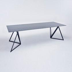 Steel Stand Table - tiefschwarz/ esche schwarz | Esstische | NEO/CRAFT