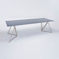 Steel Stand Table - quartz grey/ ash black | Dining tables | NEO/CRAFT