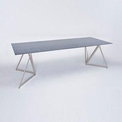 Steel Stand Table - quarzgrau/ esche schwarz | Esstische | NEO/CRAFT