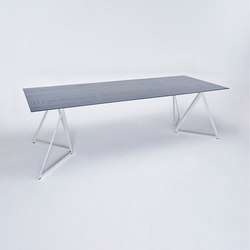 Steel Stand Table - silk grey/ ash black | Dining tables | NEO/CRAFT