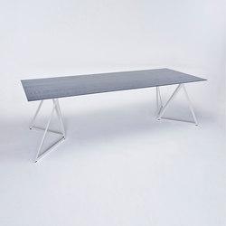 Steel Stand Table - seidengrau/ esche schwarz | Esstische | NEO/CRAFT