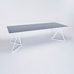 Steel Stand Table - signal white/ ash black | Dining tables | NEO/CRAFT