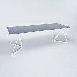 Steel Stand Table - signalweiß/ esche schwarz | Esstische | NEO/CRAFT