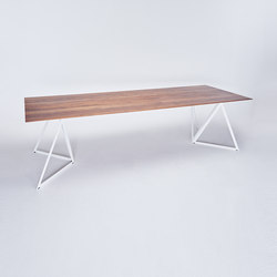 Steel Stand Table - signal white/ walnut | Dining tables | NEO/CRAFT