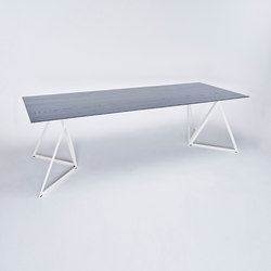 Steel Stand Table - cream white/ ash black | Tables de repas | NEO/CRAFT