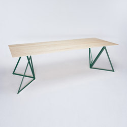 Steel Stand Table - moss green/ ash white | Dining tables | NEO/CRAFT