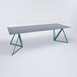 Steel Stand Table - moss green/ ash black | Dining tables | NEO/CRAFT